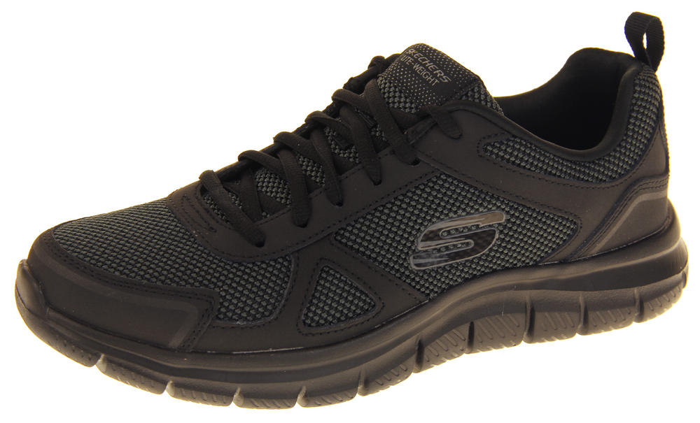 Mens Skechers Leather Memory Foam Lighteight Trainers