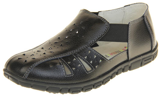 Womens Wide Fit EEE Leather Shoes