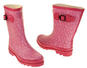 Womens Floral Calf Length Rubber Festival Wellington Boots Thumbnail 12