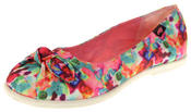 Womens Gorgeous Rocket Dog Textile Ballerina Summer Shoes Thumbnail 2