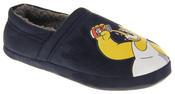 Mens Navy Blue Homer Simpson Comfy Fleece Novelty Slippers Thumbnail 2