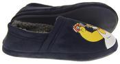 Mens Navy Blue Homer Simpson Comfy Fleece Novelty Slippers Thumbnail 4