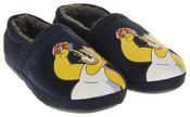 Mens Navy Blue Homer Simpson Comfy Fleece Novelty Slippers Thumbnail 5
