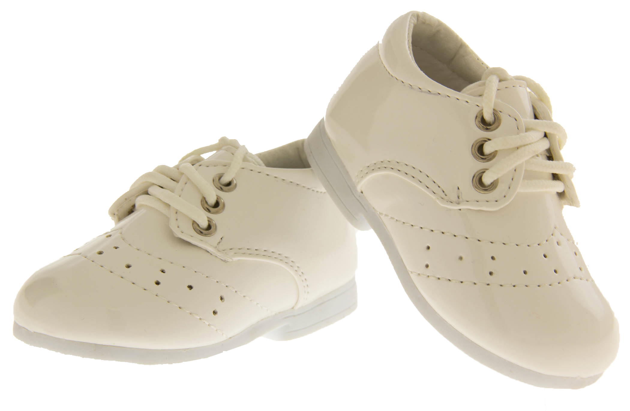 New Baby Toddler Boys White Laces Christening Pumps Wedding Shoes Size 0 1 2 3