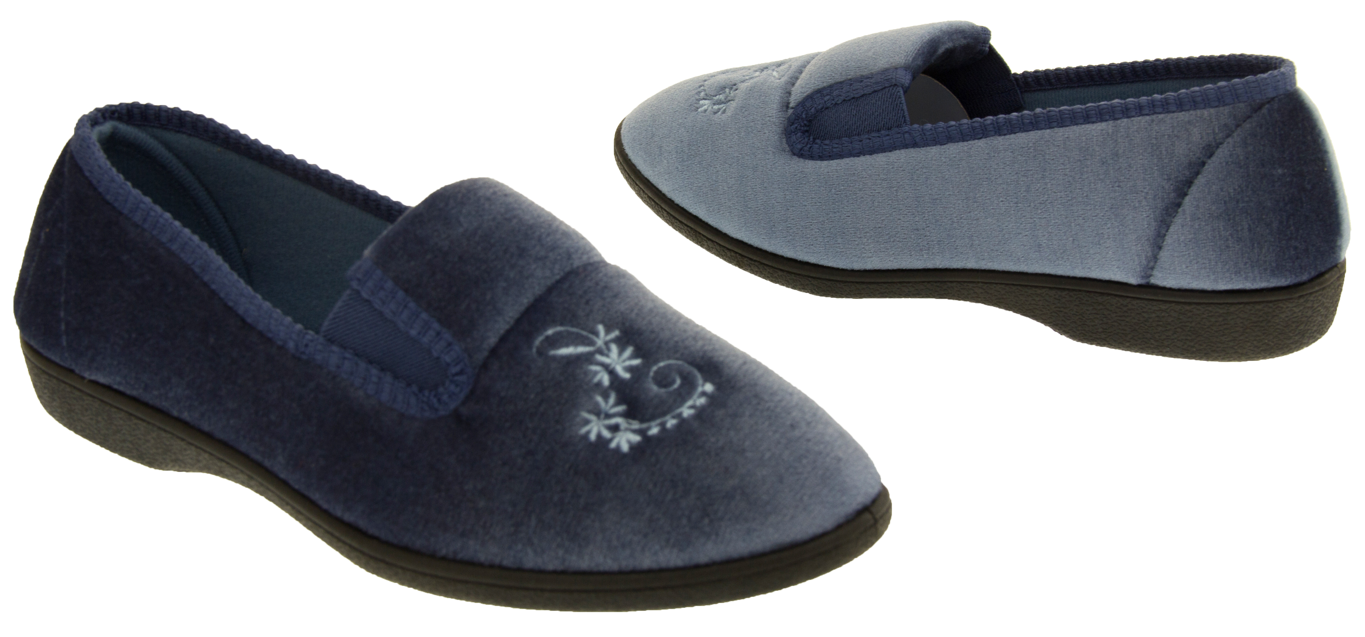 Ladies Comfort Wedge Slippers Womens Full Back Slipper Shoes Size 3 4 5 6 7 8