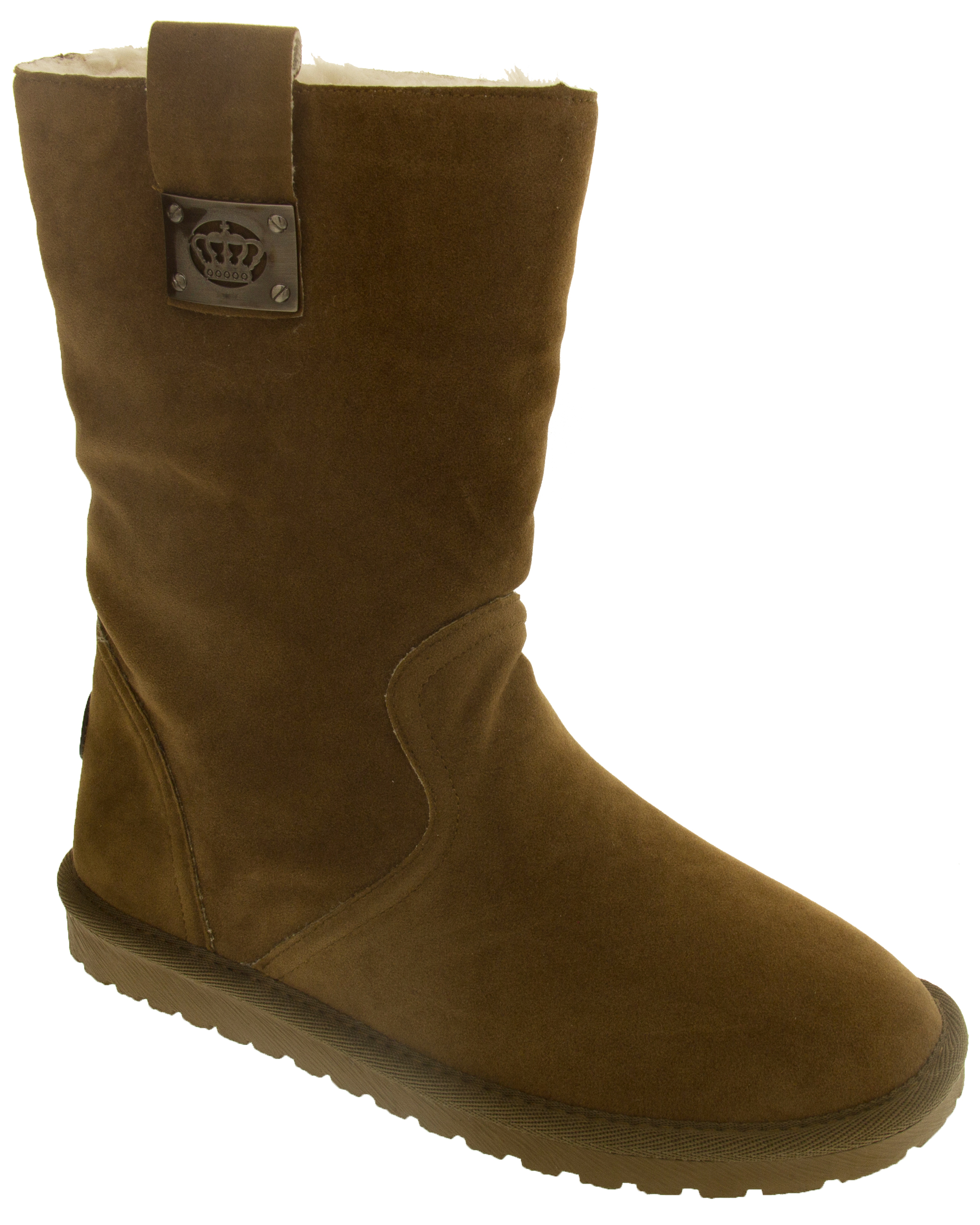 Womens Keddo Faux Suede Flat Winter Boots Warm Lined Comfort Boot Sz 3 4 5 6
