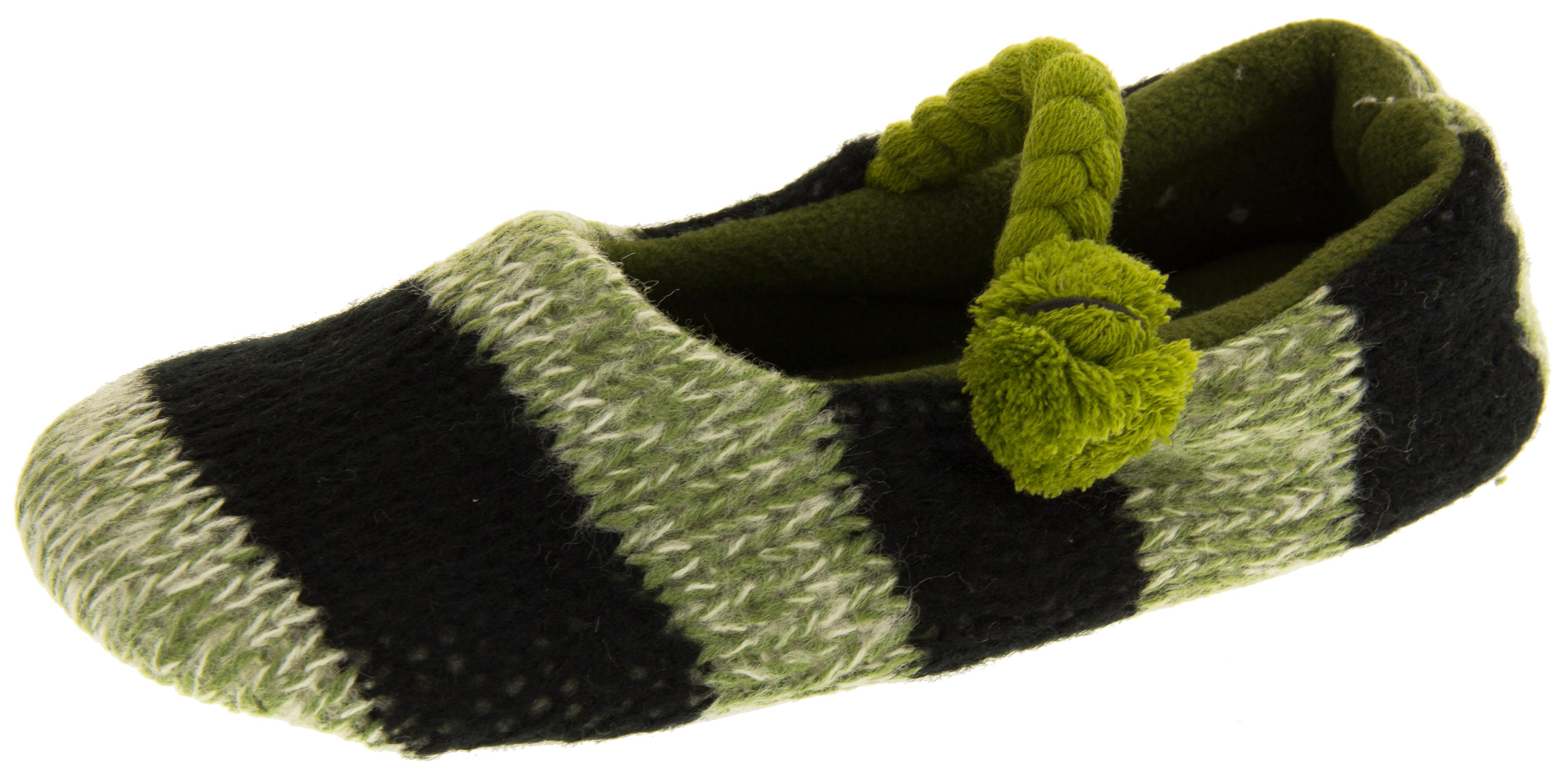 Kumfipumps Womens Knitted Ballerina Slippers CH_6945