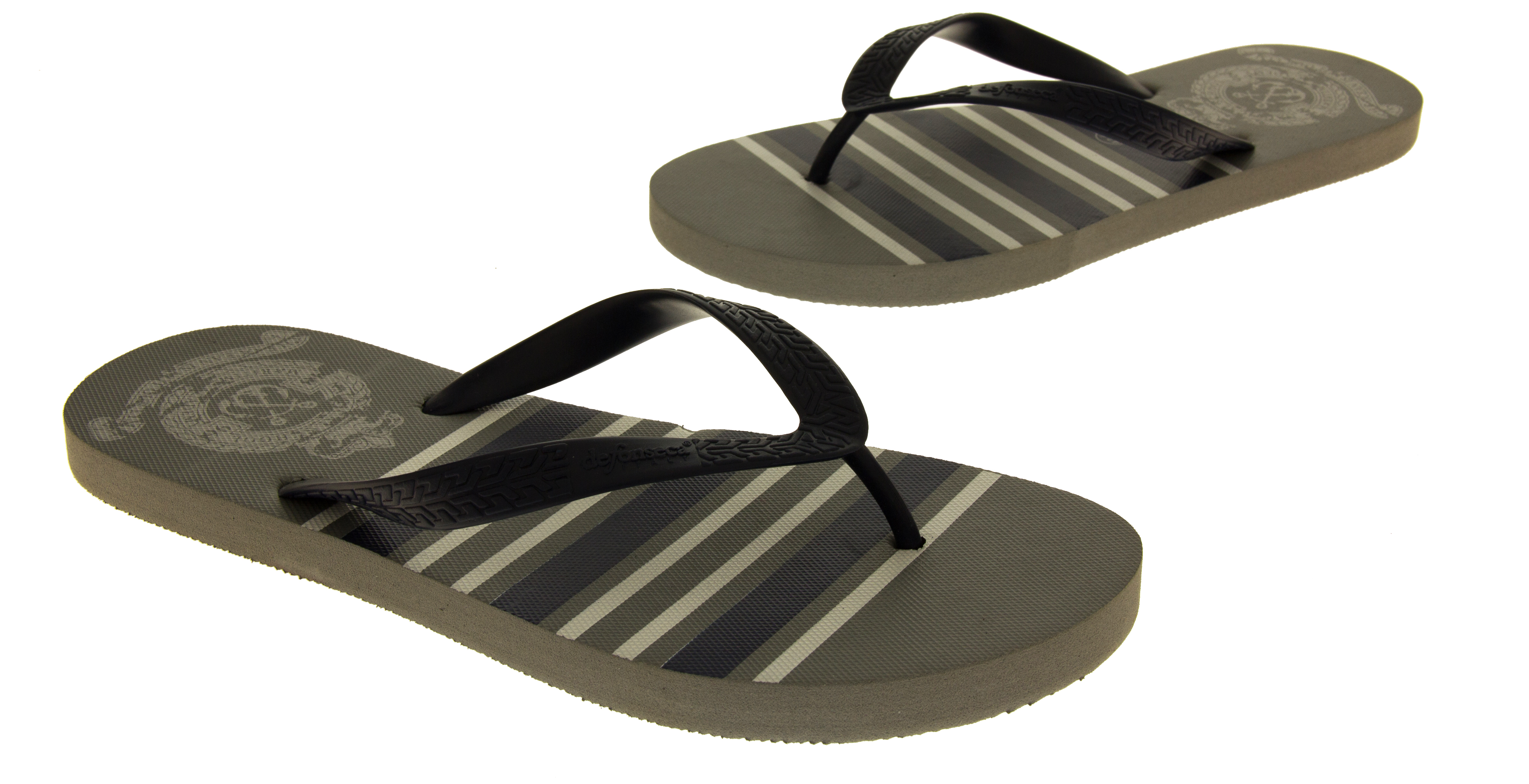 e93100aeb584 Mens De Fonseca Flat Beach Sandals Flip Flops Pool Shoes Size 6 7 8 9 10