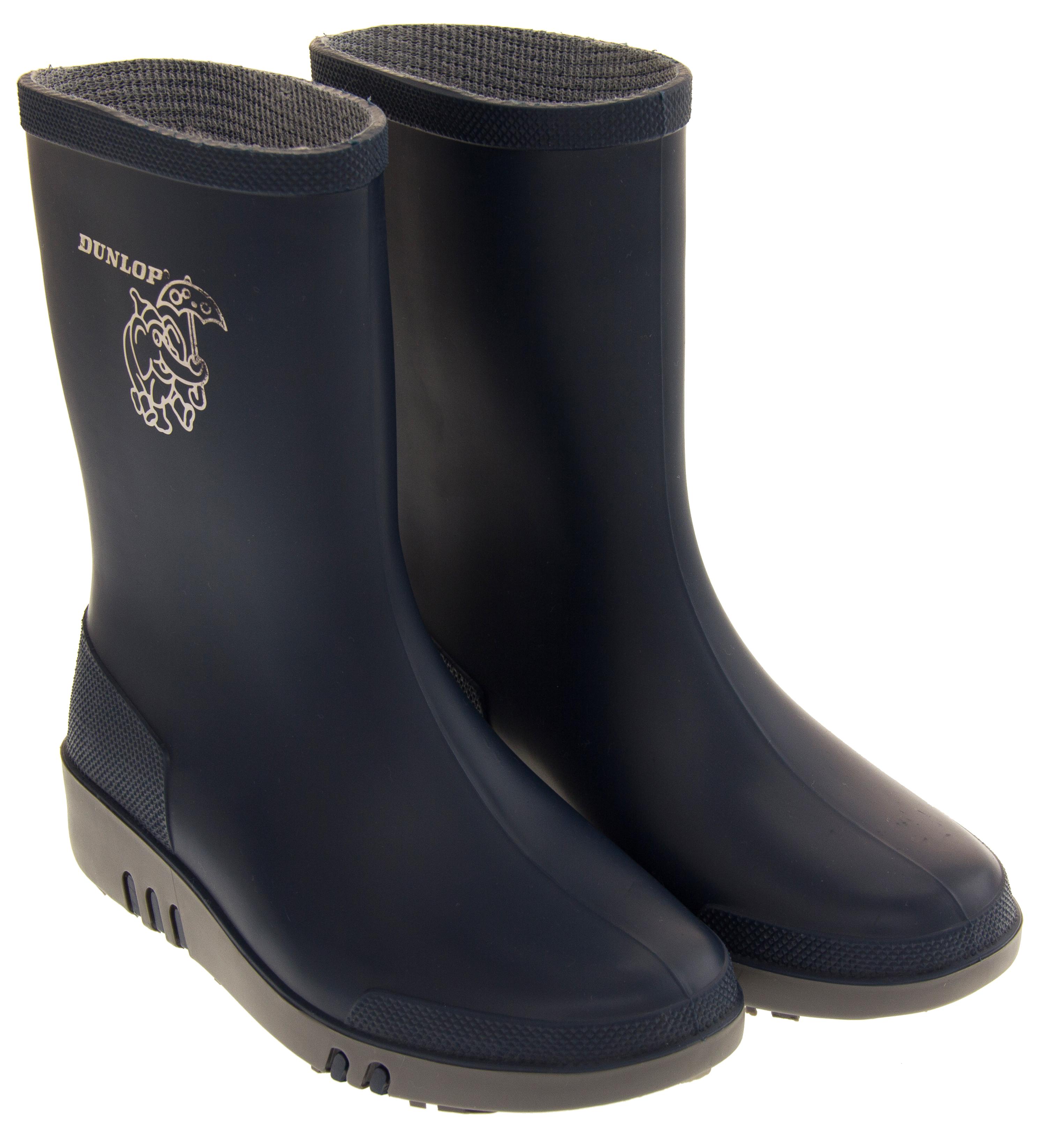3b8691fcd7ce Sentinel Boys Girls DUNLOP Elephant Wellington Boots Kids Waterproof Size 4  8 9 11 12
