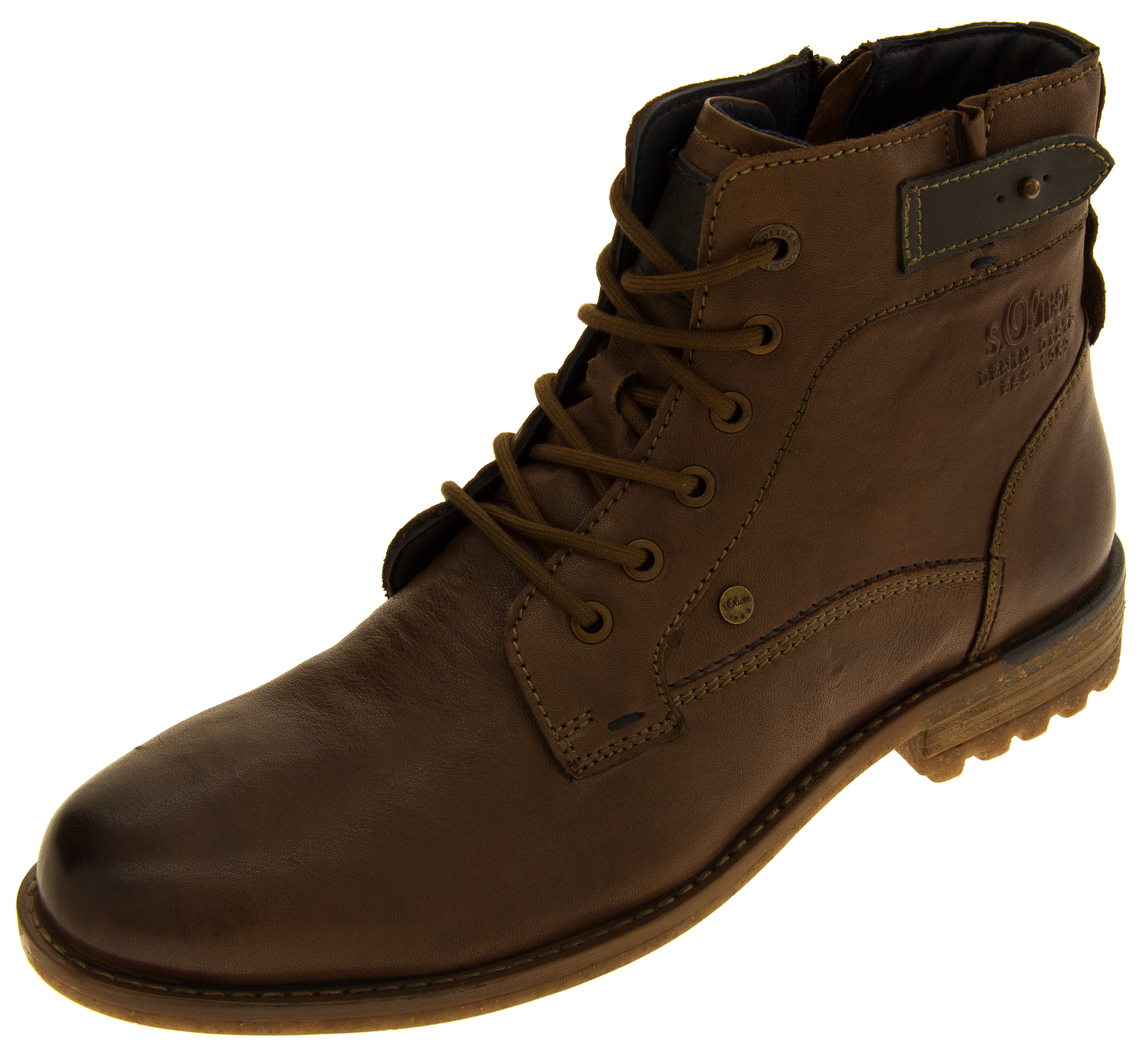 mens s oliver genuine leather boots casual lace up ankle. Black Bedroom Furniture Sets. Home Design Ideas