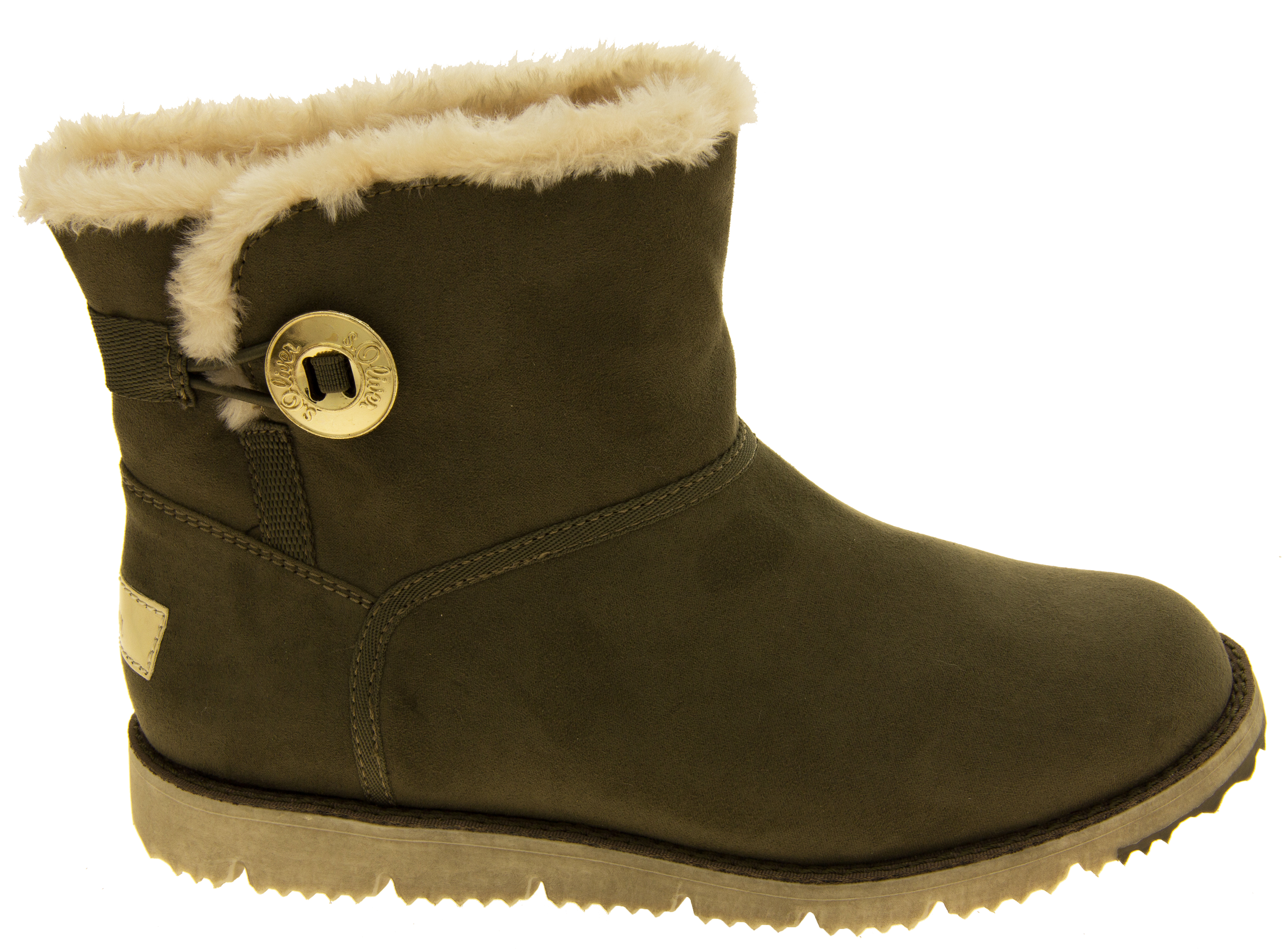 100e02cda89394 Sentinel Womens S.Oliver Fur Lined Booties Ladies Comfy Winter Ankle Boots  Size 6