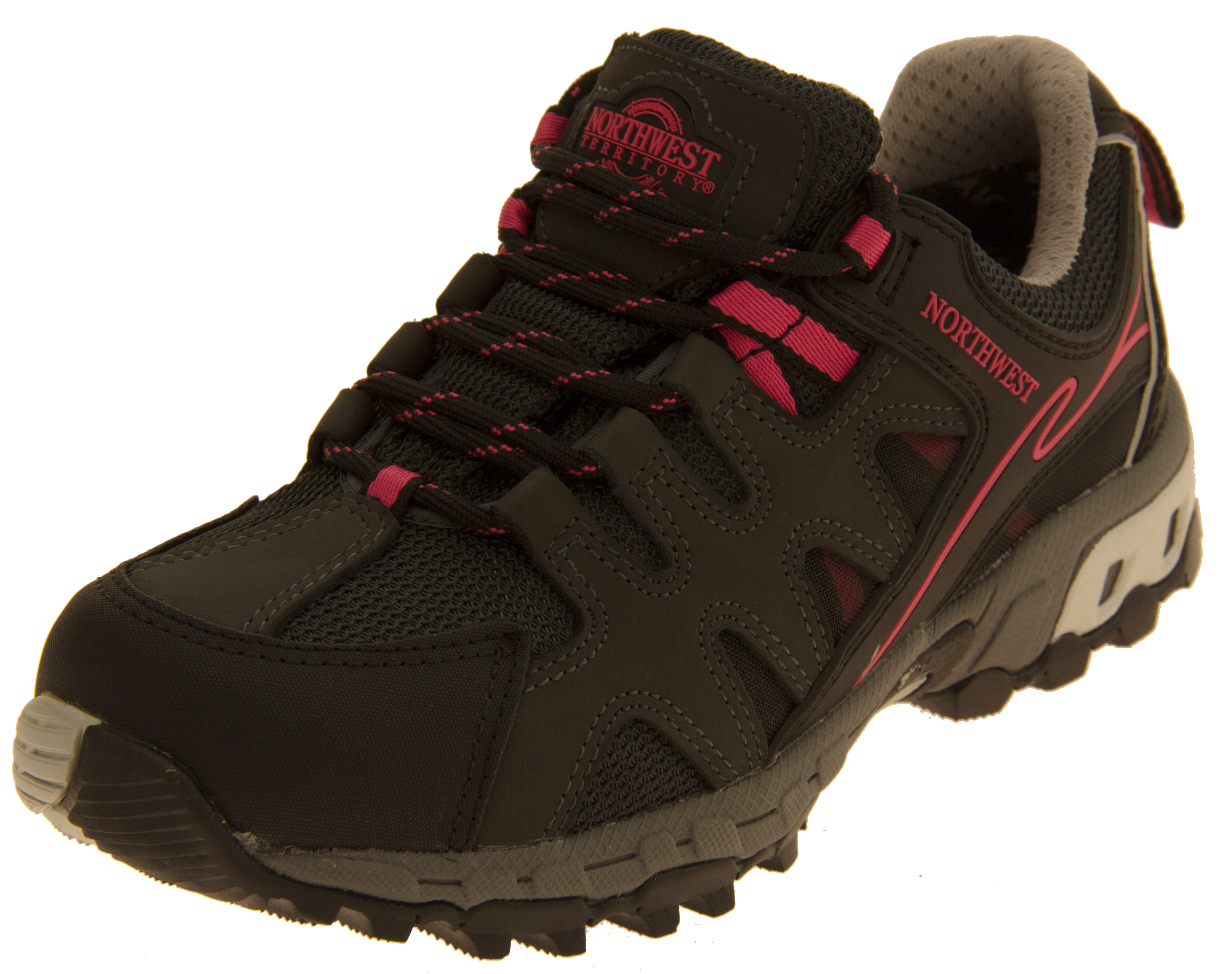 4b935102d32 Ladies Leather NORTHWEST TERRITORY Hiking Walking Waterproof Shoes ...