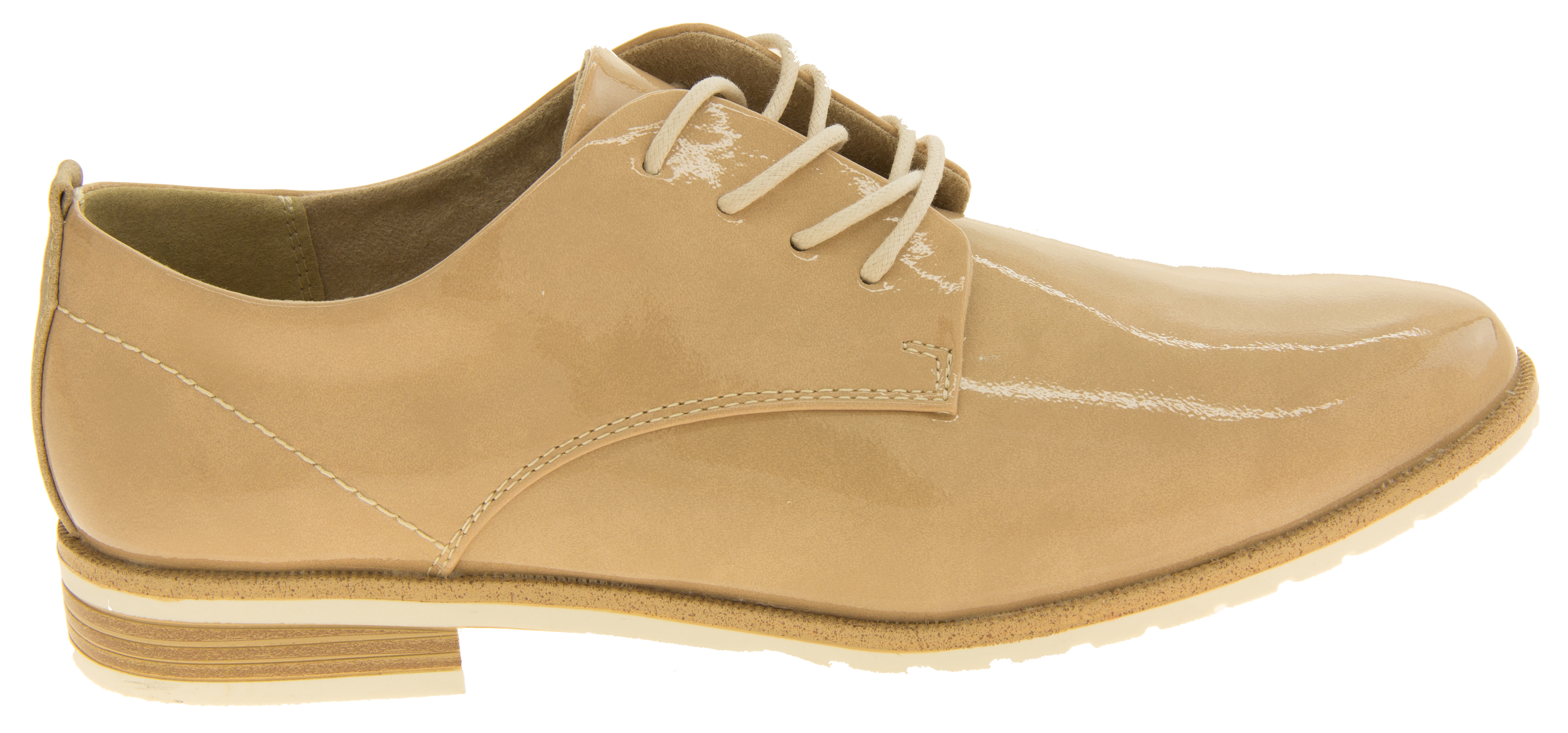18bd10398eb2 Sentinel Ladies MARCO TOZZI Faux Leather Lace Up Summer Brogue Shoes Sizes  6 7 8 9