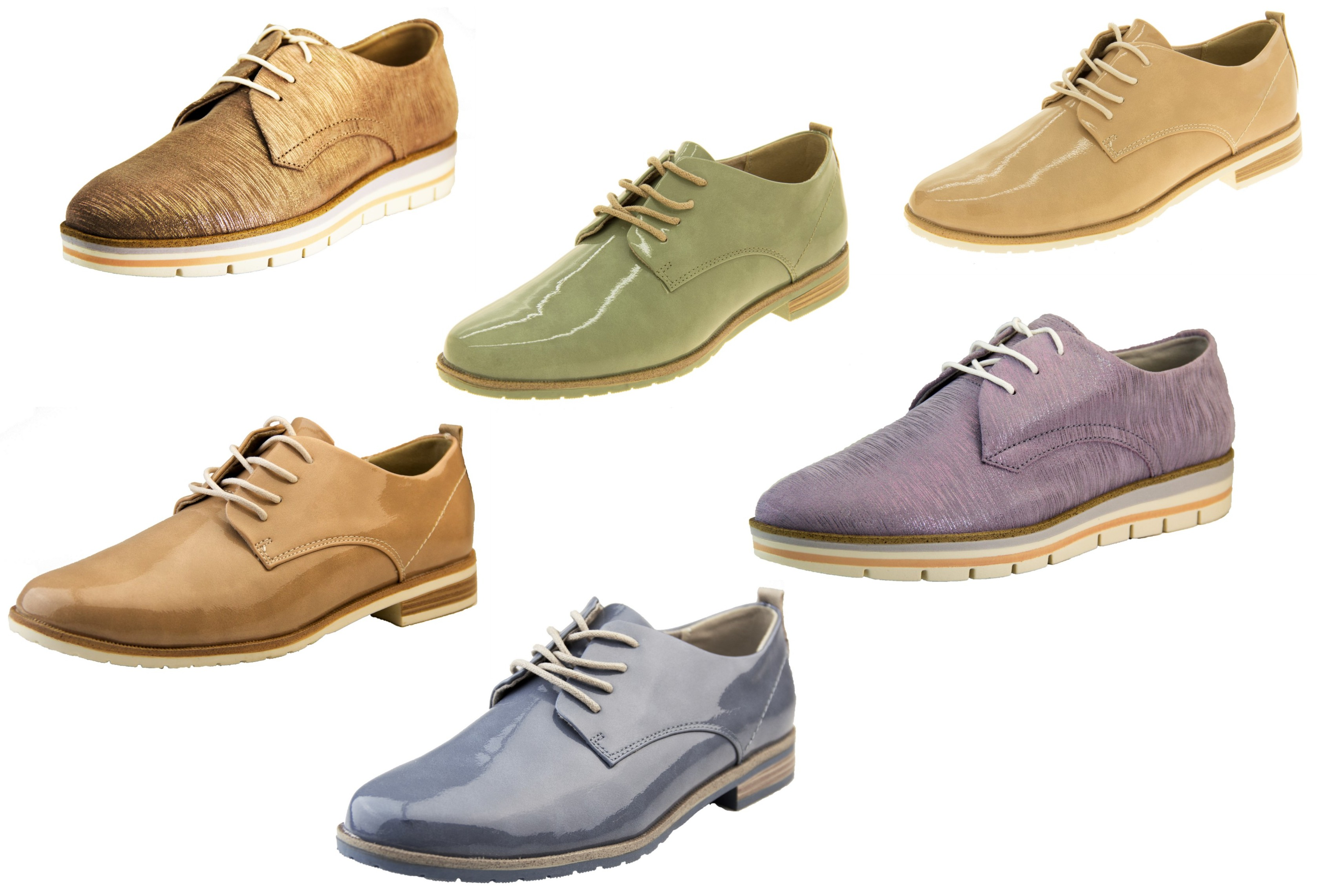 4a353099b4db Womens MARCO TOZZI Fake Leather Lace Up Summer Brogue Shoes Sizes 3 4 5 6 7