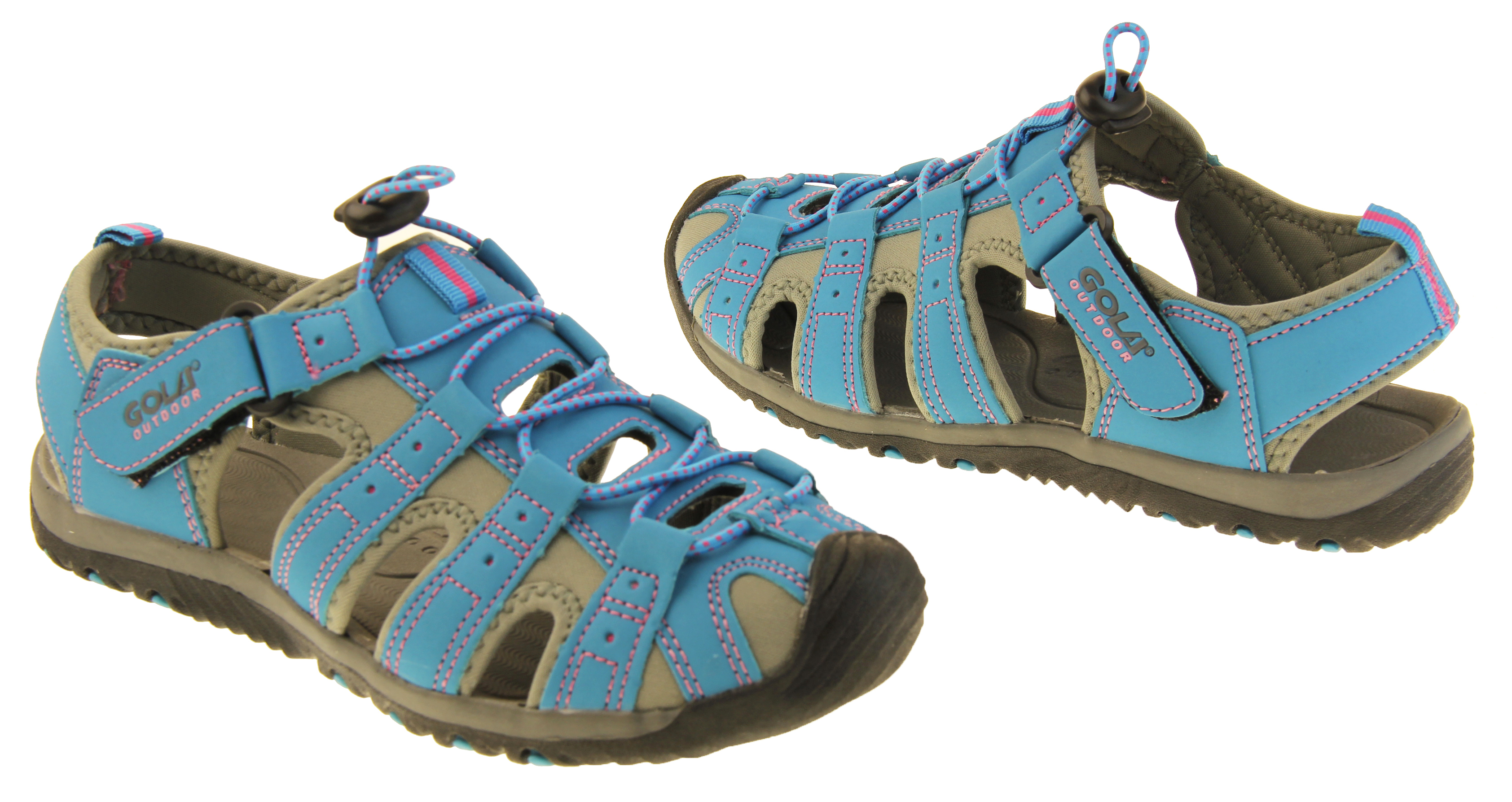 Ladies Outdoor Walking Sandals Womens Touch Fasten Summer Shoe Size 3 4 5 6 7 8