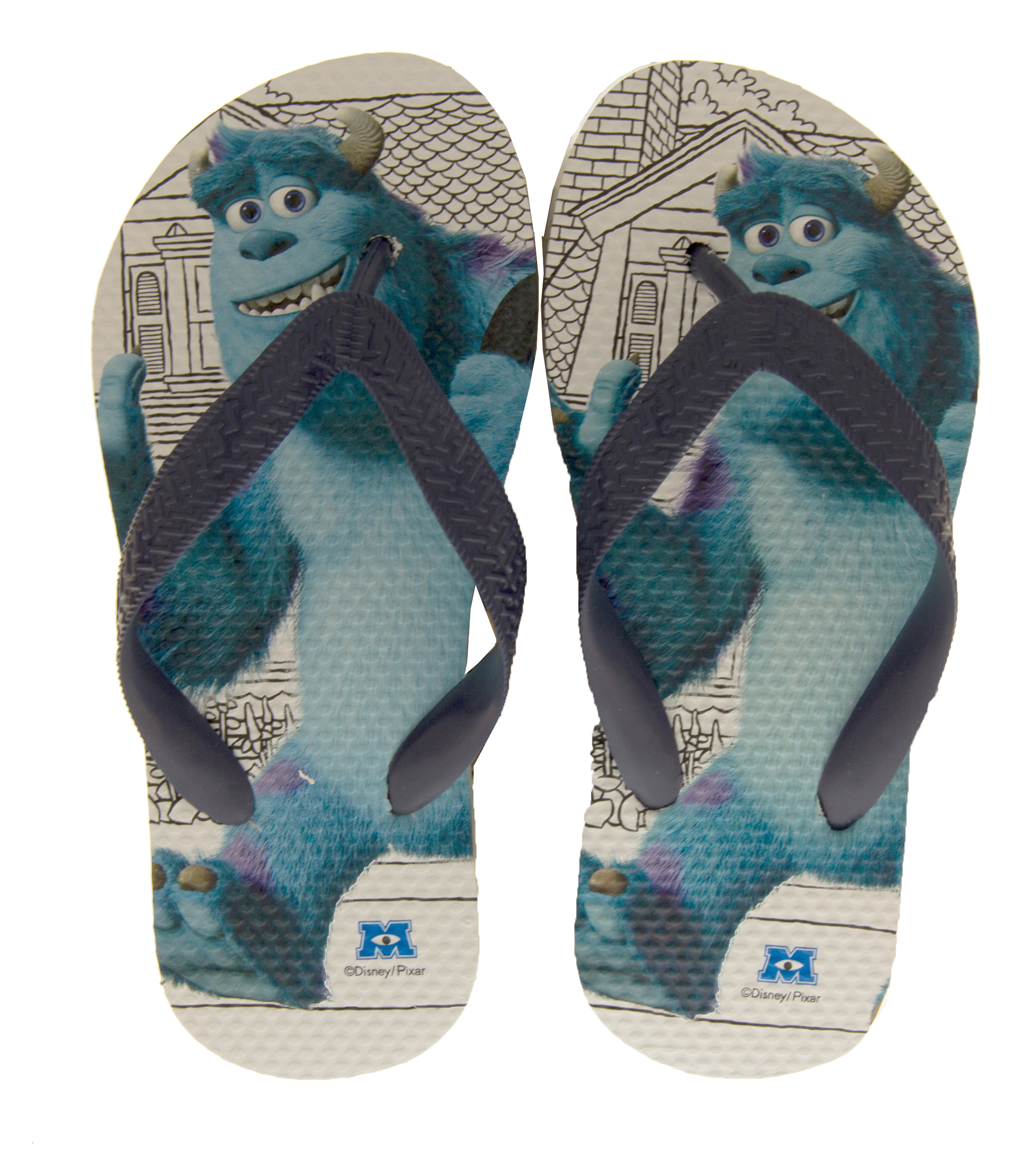 c115e016942b1 Boys Girls Monsters University Summer Flip Flops feat. Sulley