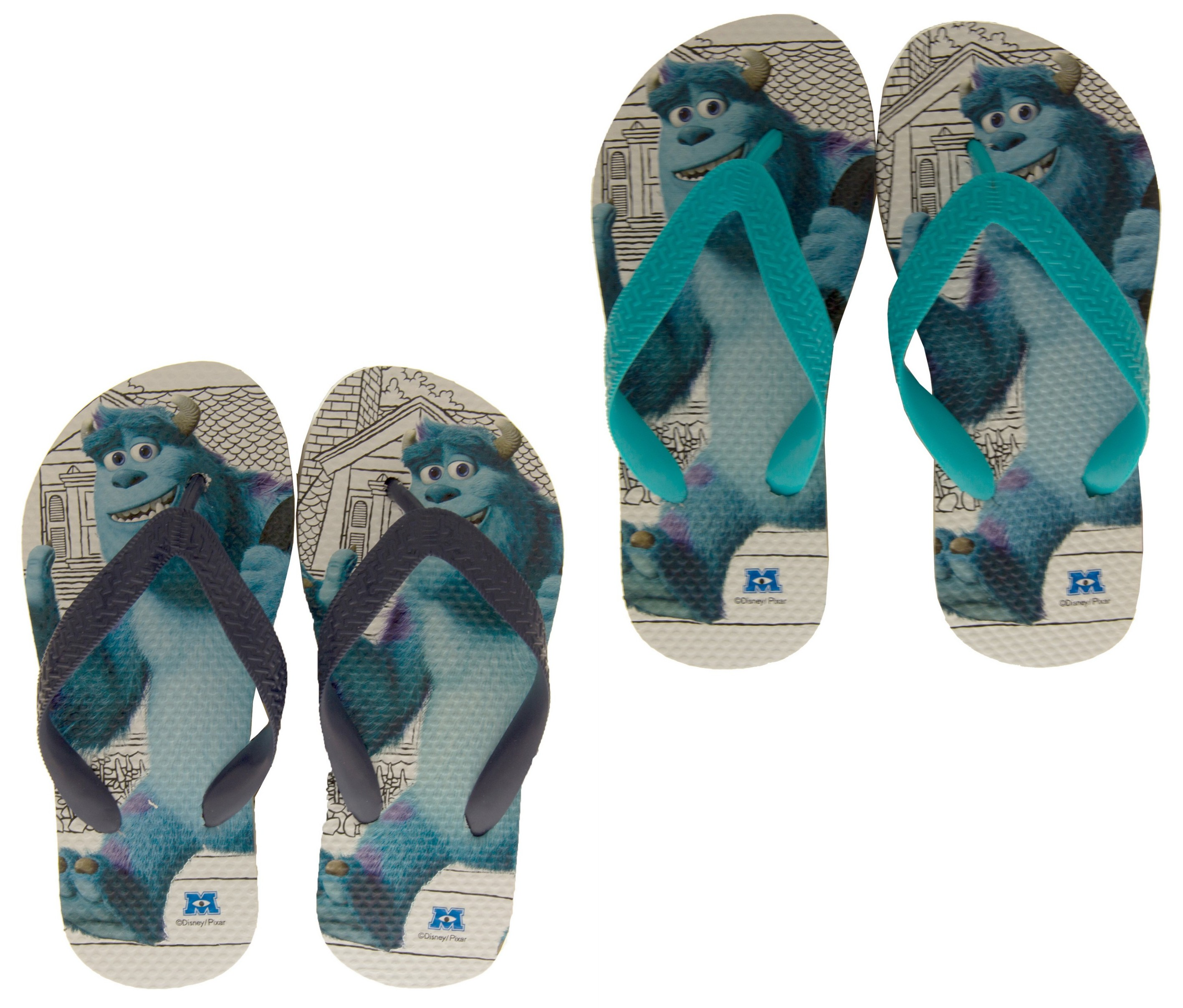 7139d3914cd77 Details about Boys Girls Monsters Inc Holiday Sandals Summer Flip Flops  Kids Sz Size 9-2