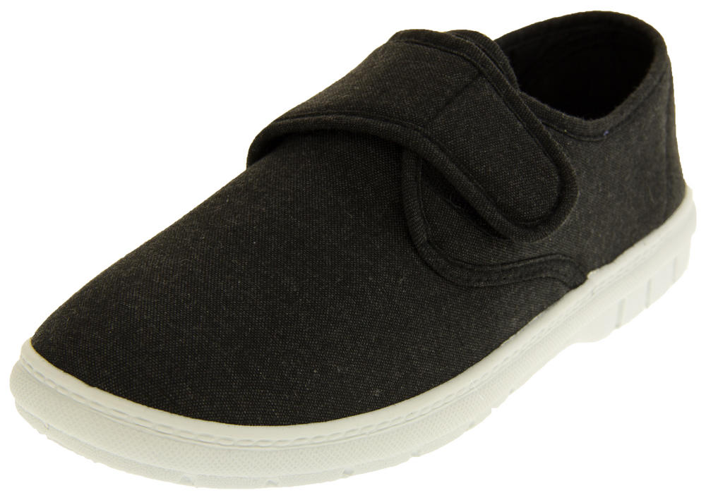 Mens Velcro Canvas Summer Pumps