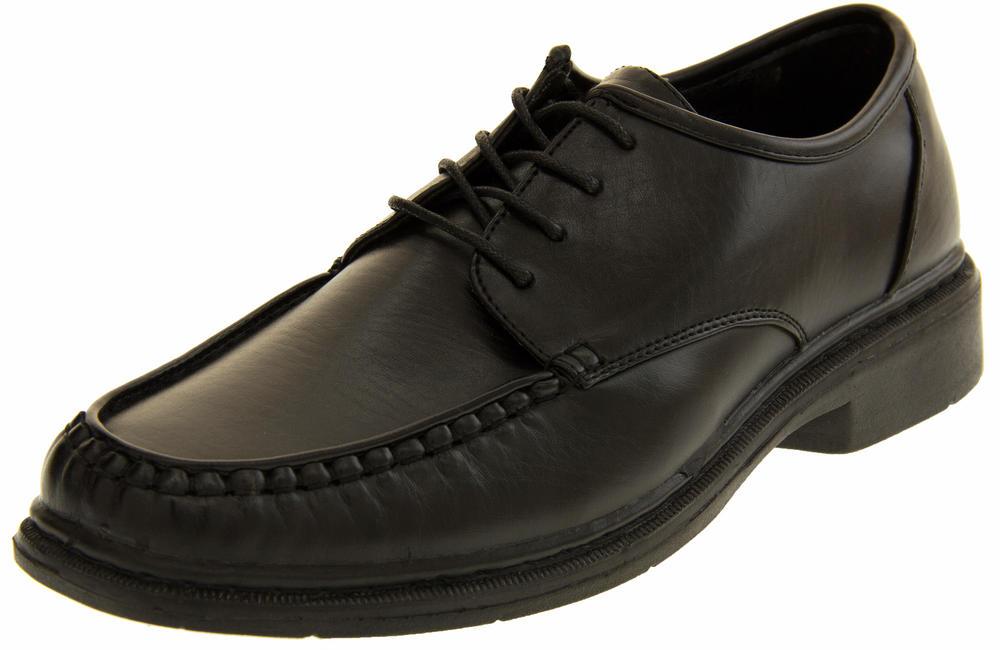 Mens Faux Leather Lace Up Shoes