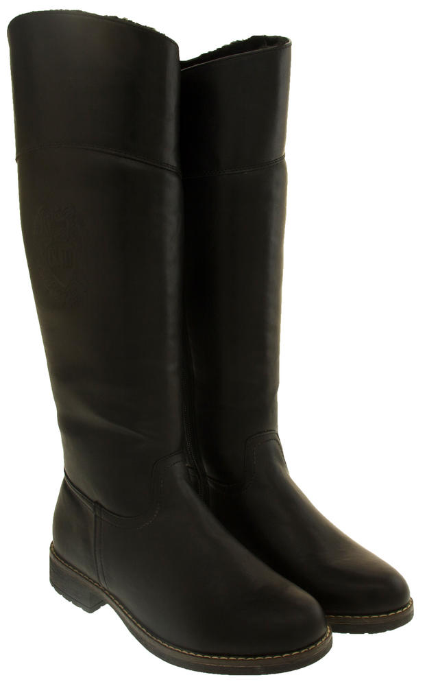 Ladies Keddo Win Tex Lined Faux Leather Knee High Boots
