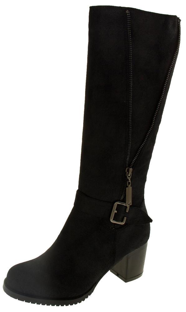 Ladies Keddo Zip and Buckle Detail Knee High Boots