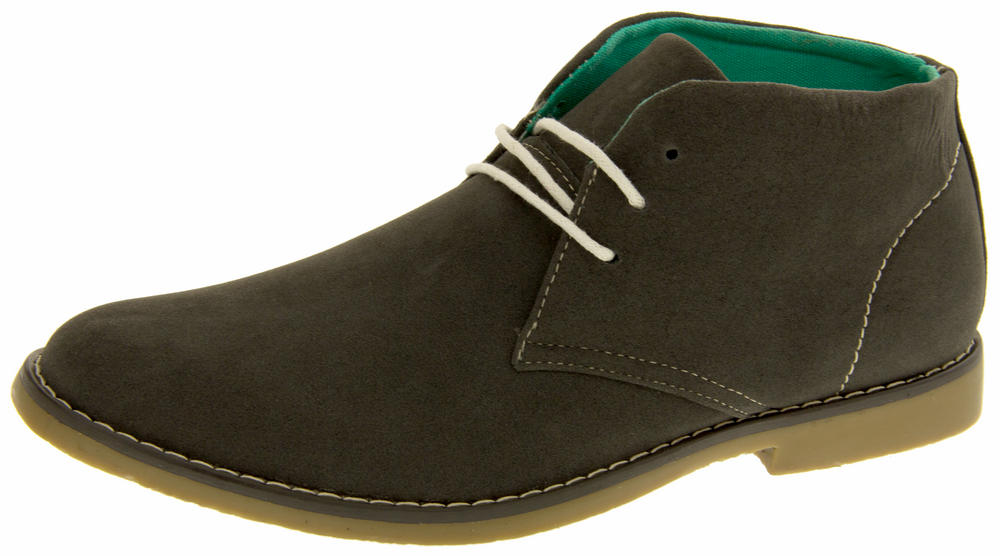 Mens Classics Hayden Faux Suede Casual Desert Boots