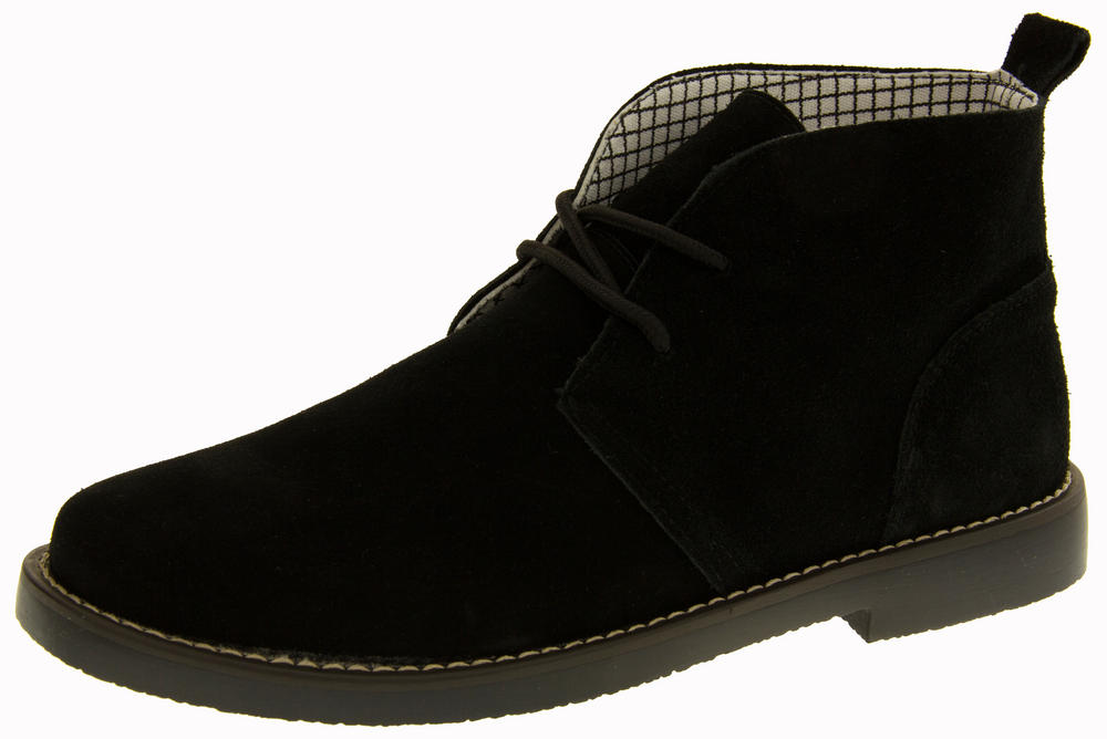 "Mens Northwest Territory ""Barlow"" Leather Suede Lace up Non Slip Desert Boots"