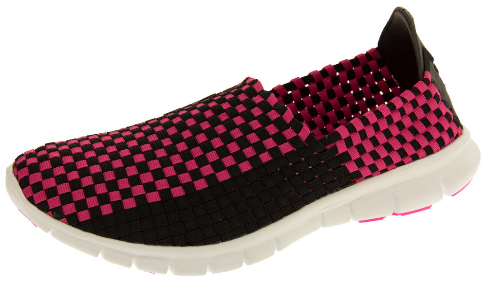 Gola Womens Stretchy Woven Elastic Running Shoes Ladies Trainers
