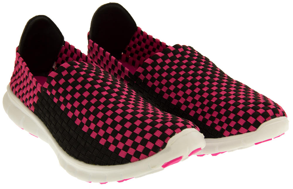 Gola Womens Stretchy Woven Elastic Running Shoes Ladies
