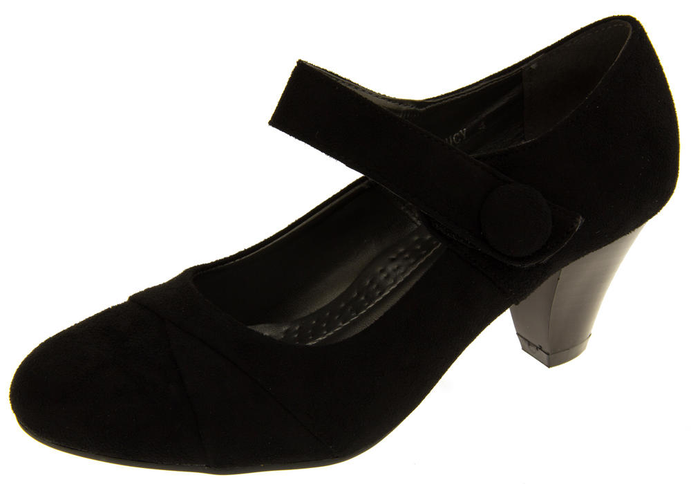 Womens Annabelle Faux Suede Mary Jane Court Shoe