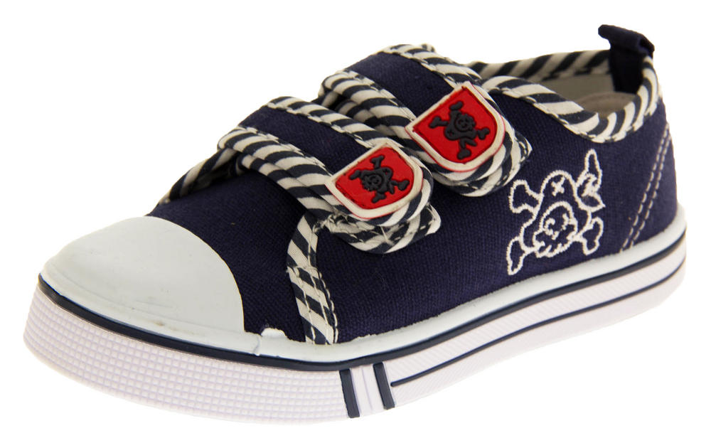 Boys De Fonseca Timotto2 Twin Velcro Strap Canvas Shoes