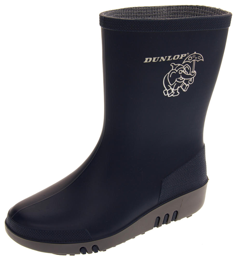 Childrens DUNLOP Rainy Day Elephant Wellington Boots