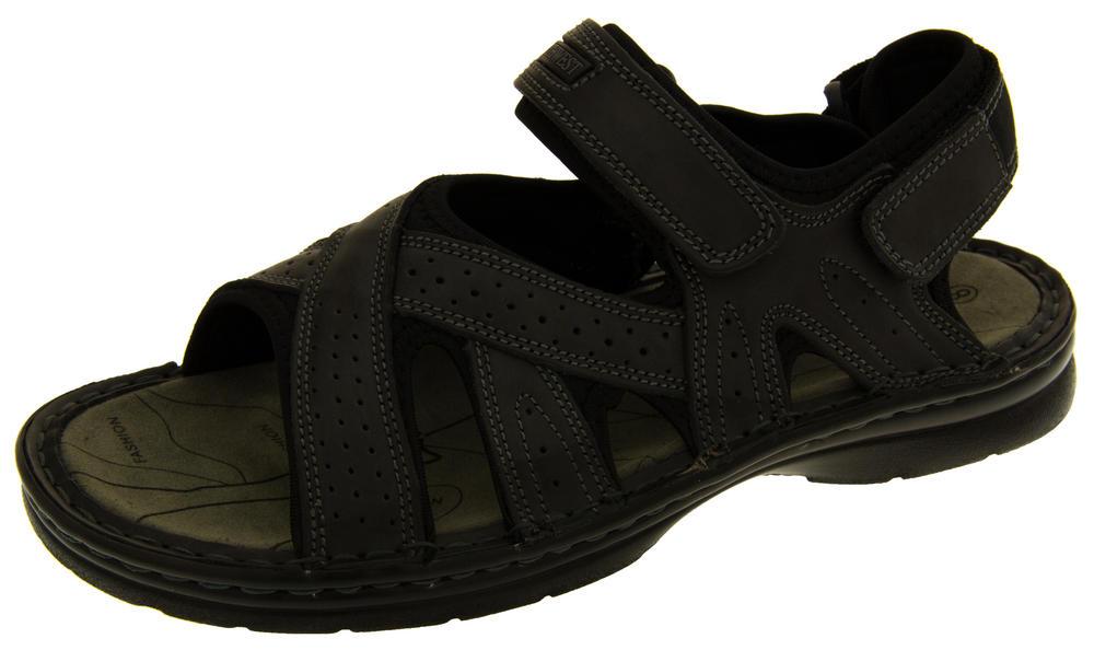 Mens Northwest Territory Sudan Real Leather Hiking Sandals