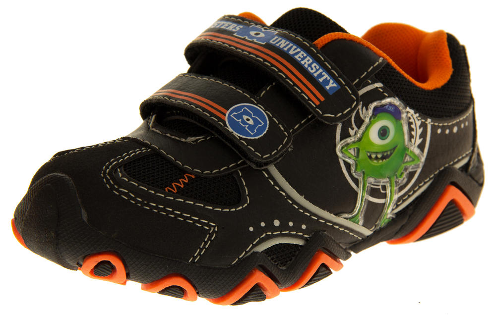 Boys Girls Disney Pixar Monsters Inc Velcro Strap Trainers