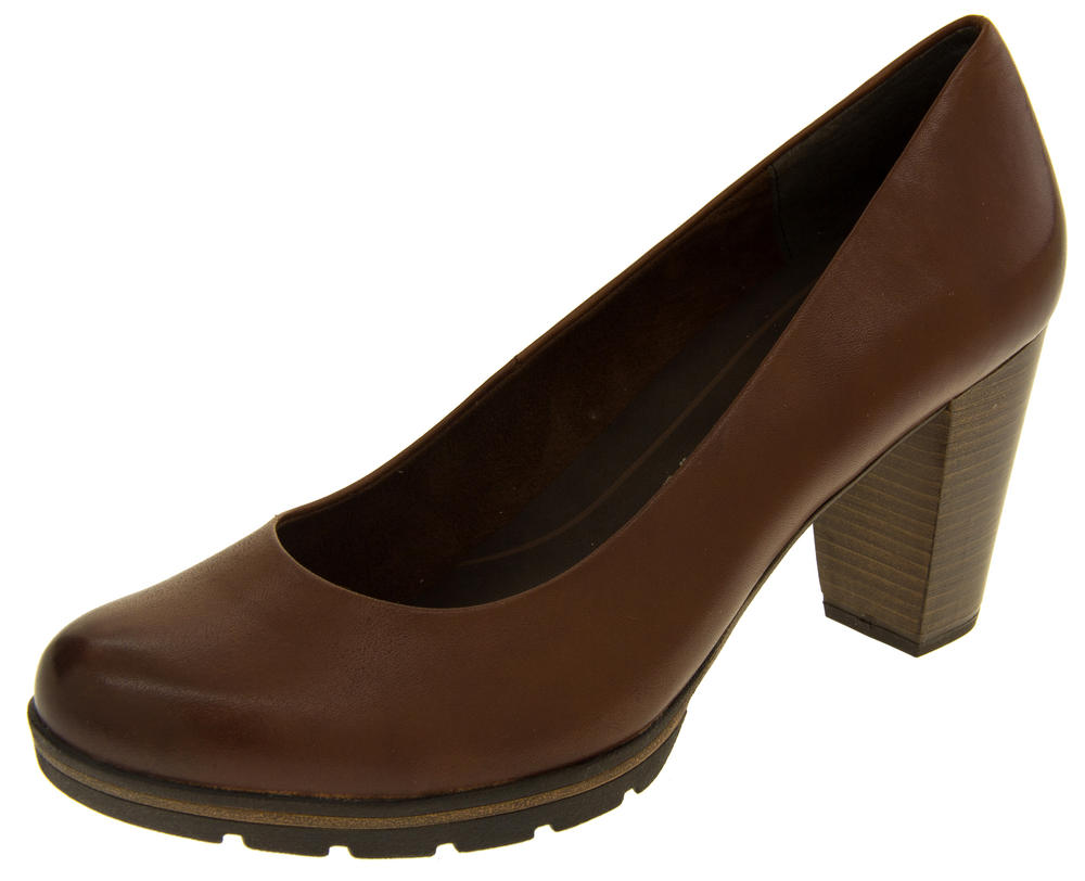 Ladies Marco Tozzi 22419-27 Leather High Heel Court Shoes