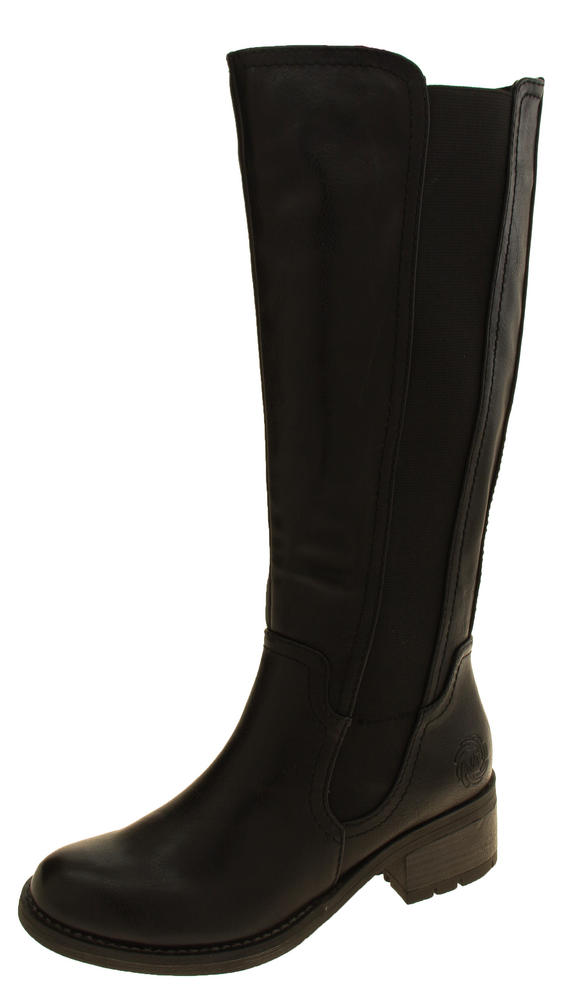 Womens Faux Leather Knee High Boots