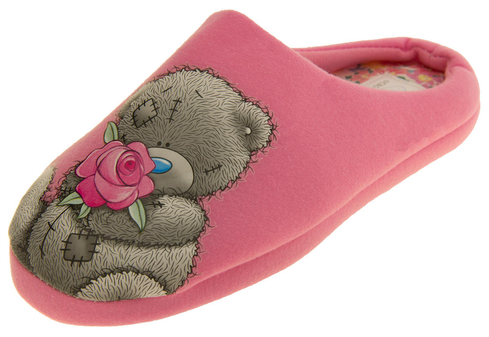 Womens Comfortable 'Me To You' Bear Pink Mule Slippers