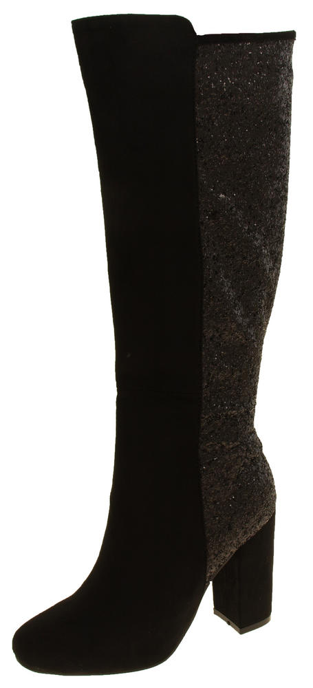 Ladies Divine Knee Length Glitter High Heeled Boots