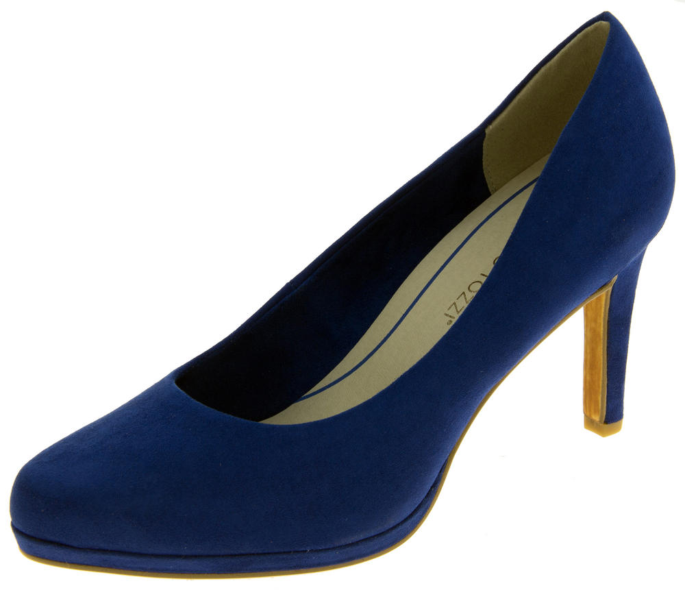 Ladies Marco Tozzi Immitation Suede High Heels Court Shoes