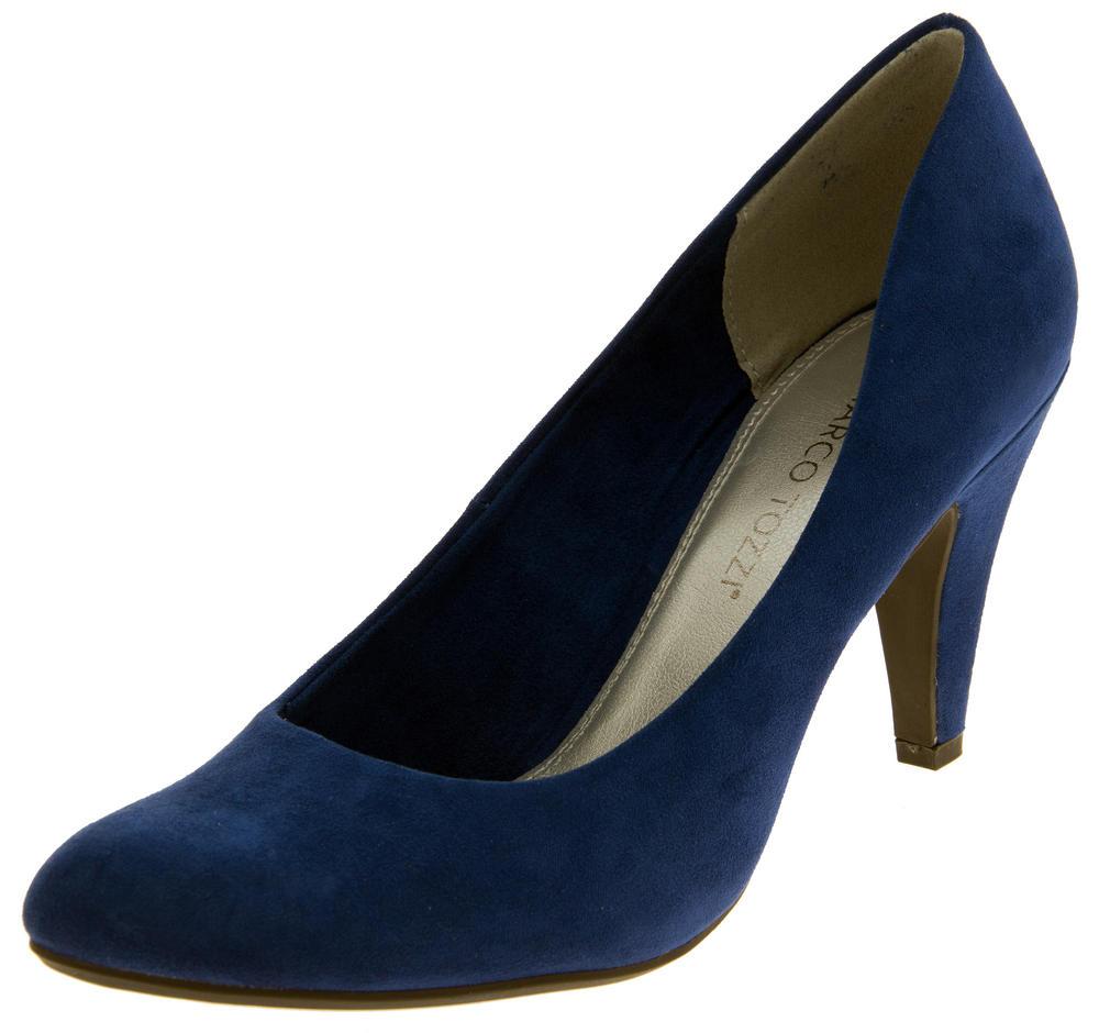 Ladies Marco Tozzi Faux Suede Medium Heels Court Shoes