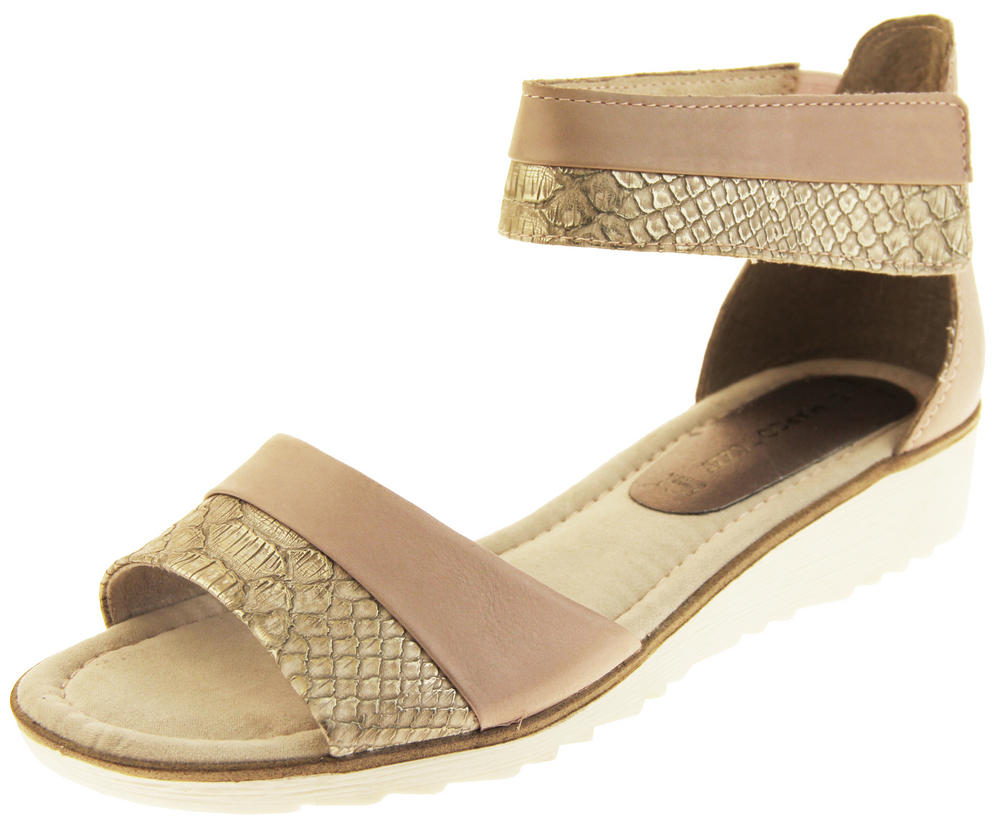 Ladies Marco Tozzi Wedge Gladiator Summer Holiday Sandals Shoes