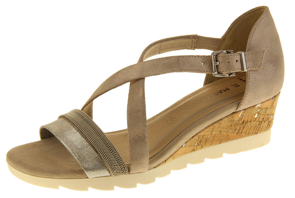 Womens Marco Tozzi 28716 Leather Wedge Gladiator Sandals