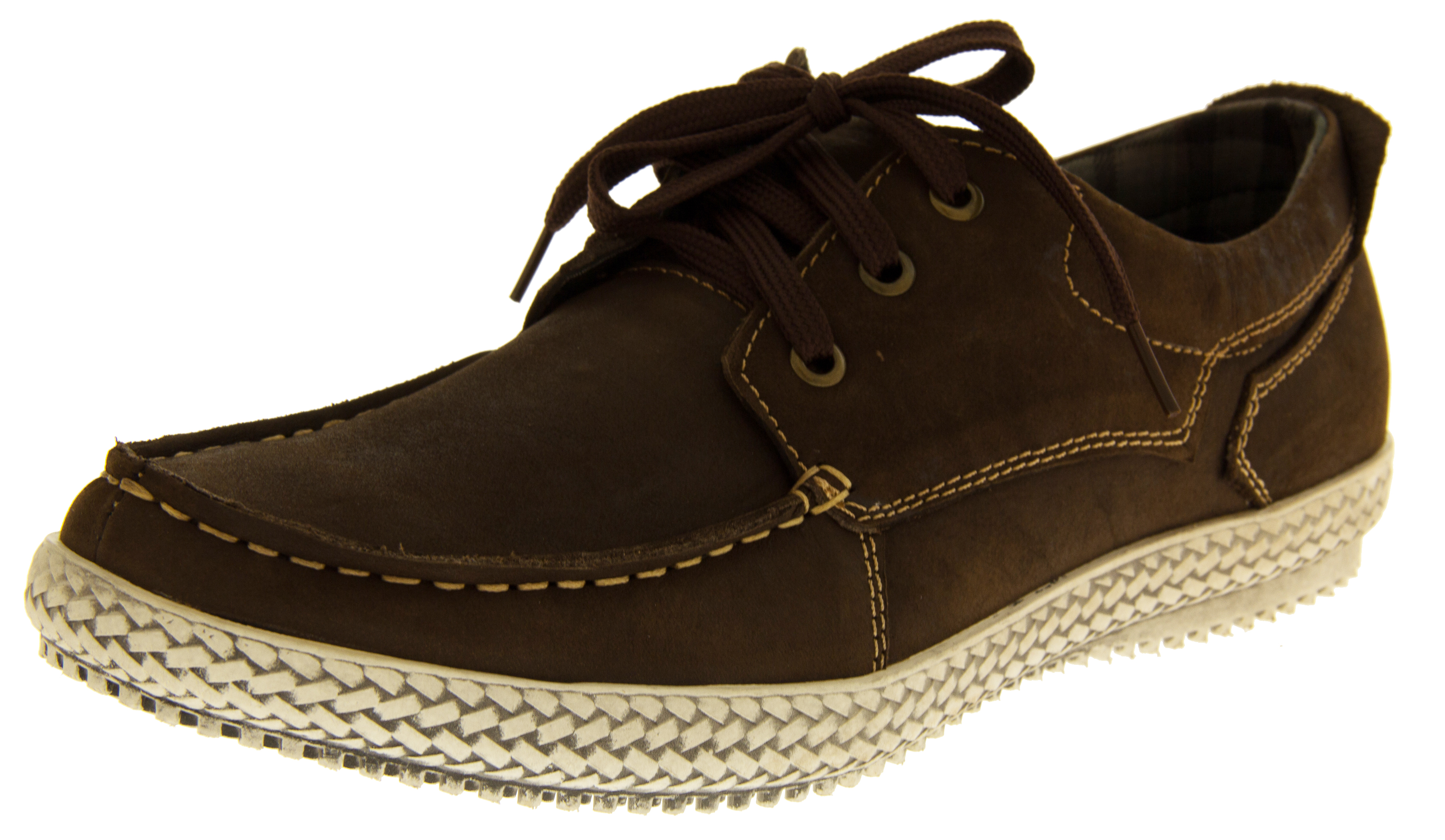 Mens REAL LEATHER YACHTSMAN Casual Shoes