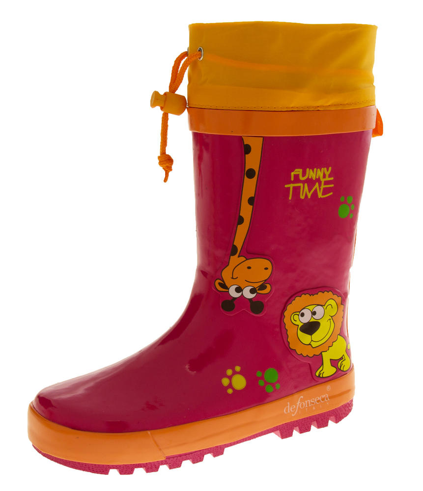Kids De Fonseca Jungle Fun Wellington Boots