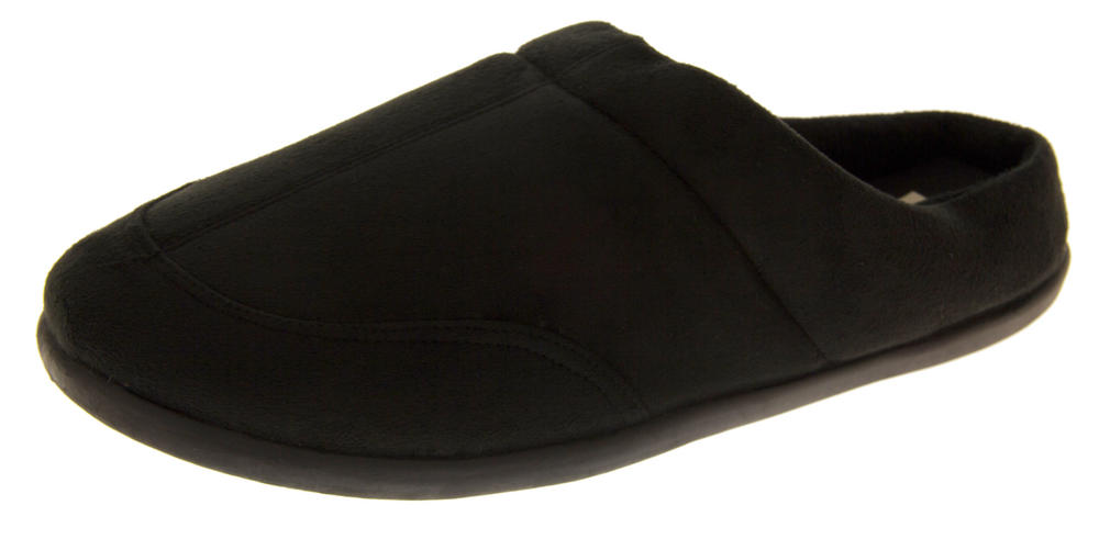 Mens Coolers Faux Suede Warm Lined Winter Slippers