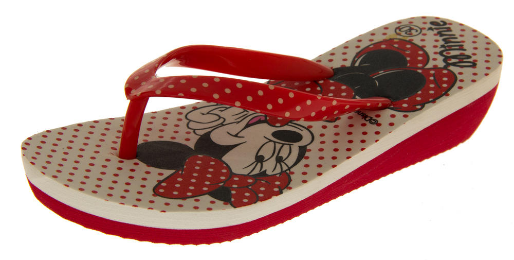 Girls Disney Minnie Mouse Daisy Duck Flip Flops Beach Sandals