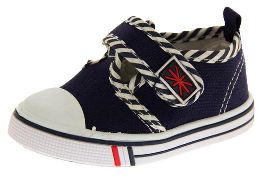 Boys Girls Unisex De Fonseca Giancio 2  Canvas Velcro Fastening Shoes