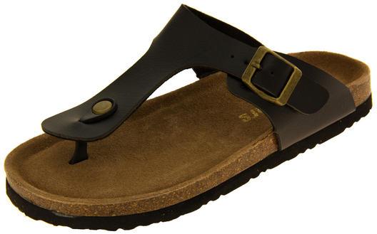 Ladies Coolers Faux Leather Buckle Strap Mule Sandals