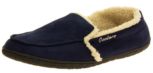 Mens Coolers Faux Suede Full Back Padded Cosy Slippers