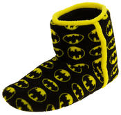 Mens Batman Fleece Warm Pull On Boot Slippers Thumbnail 1